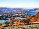Box Hill and Dorking in the Frost