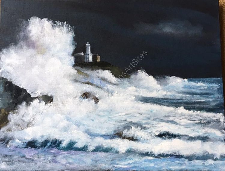 Mumbles Head in Storm Ophelia