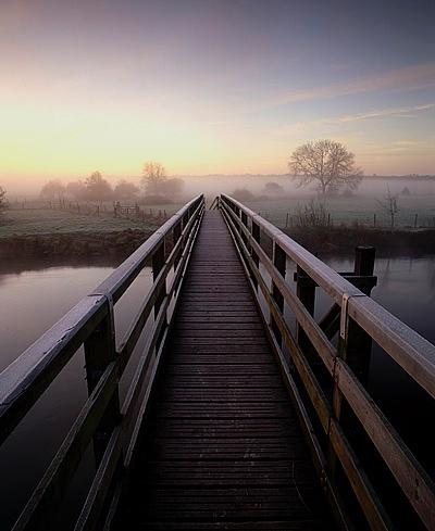 A Frosty Morning, Eyebridge, River Stour