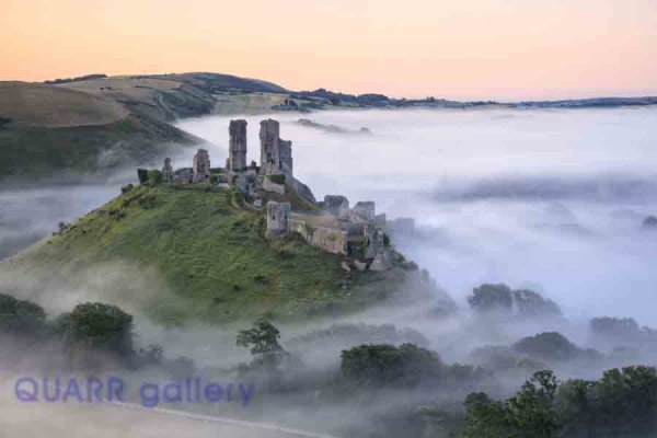 Clearing Mist, Corfe Castle