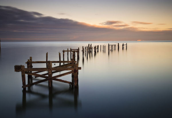 Winter Light on Swanage Old Pier