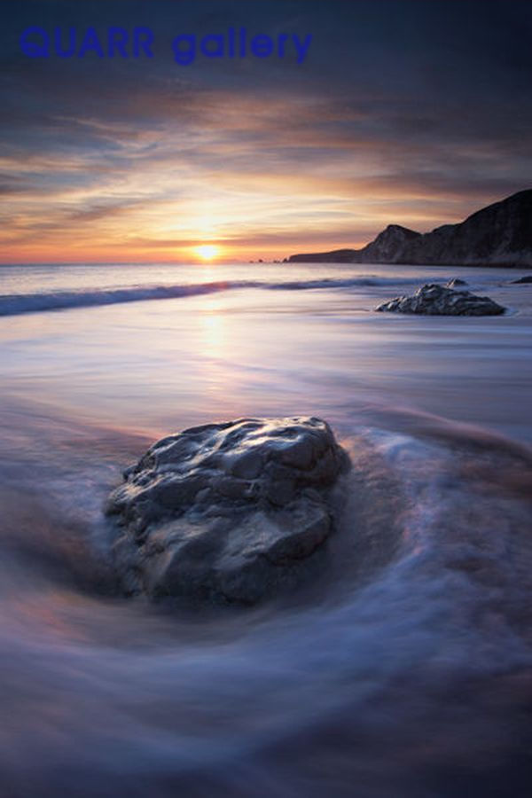 Winter Sunset Worbarrow Bay