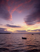 Pink skies over Poole Harbour No 2