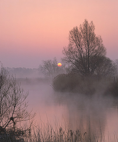 Winter sunrise, River Stour