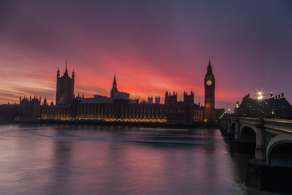 Afterglow, The Palace of Westminster