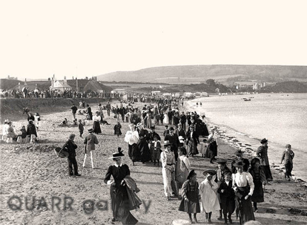 Swanage Beach, An Evening Stroll (c1897)