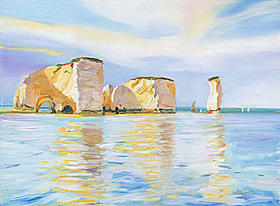 Old Harry, Calm Sea, Afternoon