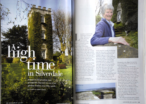 Lindeth Tower, Silverdale. 'Lancashire Life' magazine, June 2011.