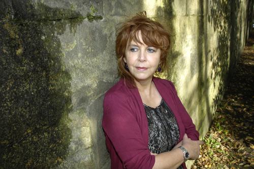 Author Carol Birch in her hometown of Lancaster.