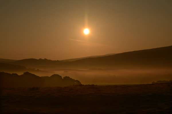 Sunrise over Bowland Forest.