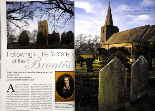 Charlotte Bronte feature, Tunstall. 'Lancashire Magazine'. July 2011.