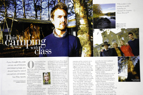 Boutique Camping at Wyersdale Park for Lancashire Life. Main picture shows Jim Whewell.