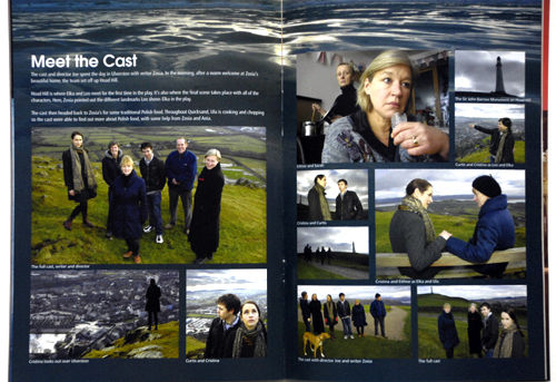 Programme pages from the Dukes production of Quicksand by Zosia Wand. 2011.
