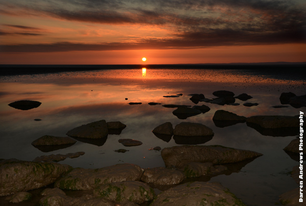 Morecambe Bay, England.