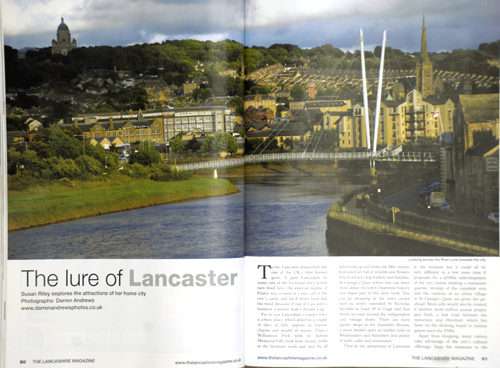 Feature on the city of Lancaster for Lancashire Magazine.