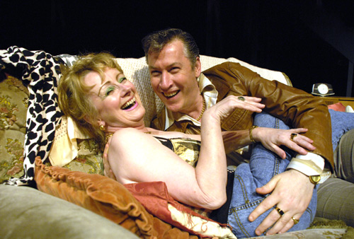 Actors Eithne Browne and Keiran Flynn in The Dukes production of 'Little Voice'.