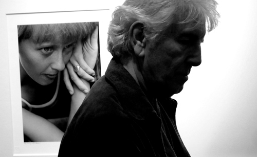 Musician Graham Nash at his photography exhibition at Manchester's Richard Goodall Gallery.