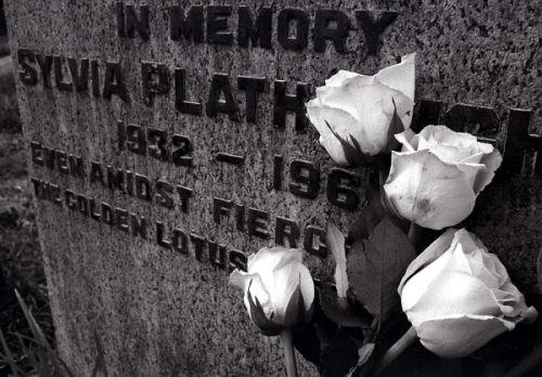 Sylvia Plath's grave.