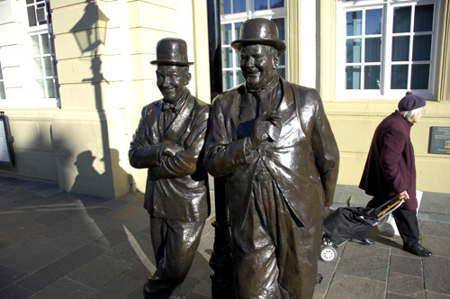Laurel and Hardy statue, Ulverston.