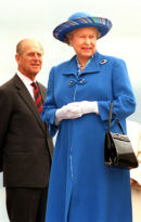 HRH The Queen at the unveiling of the Eric Morecambe Statue in Morecambe.