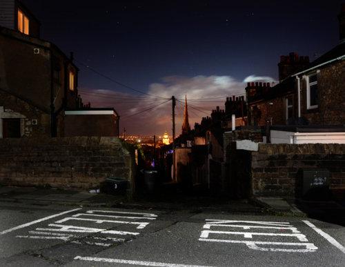Lancaster at night.