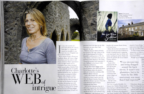 Actress Becky Hindley. Lancashire Life.