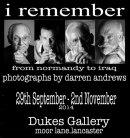 'I Remember' exhibition flyer.