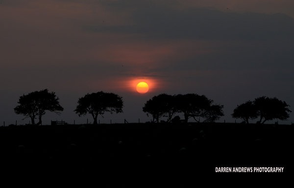 Sunset, The Shore, Crag Bank, Lancashire.