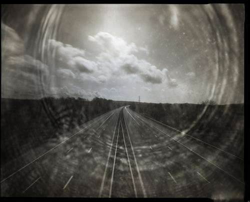 M6, Lancashire. 5x4 pinhole camera.