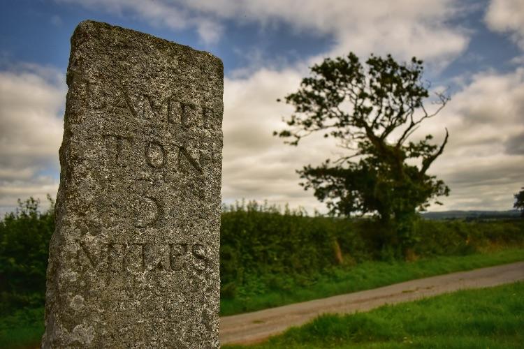 Milestone near Tavistock August 2018
