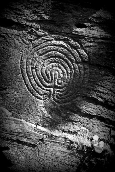 Labryinth Rock Carving Rock Valley North Cornwall