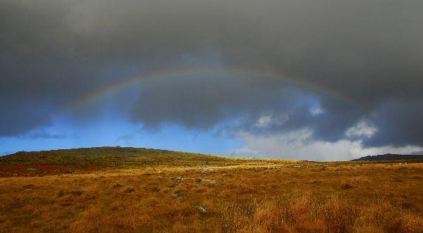 Rainbow near Vixen Tor November 2012
