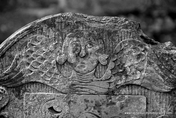 Slate angel headstone Tavistock