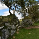 Gate and stone wall April 2017 near pew tor