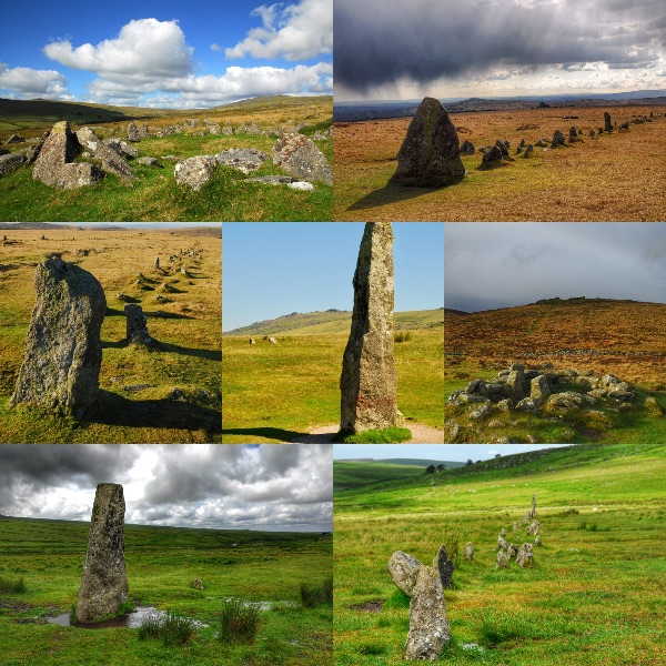 Dartmoor Bronze Age collage