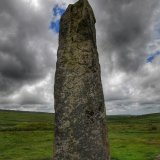 Drizzlecombe menhir July 2012