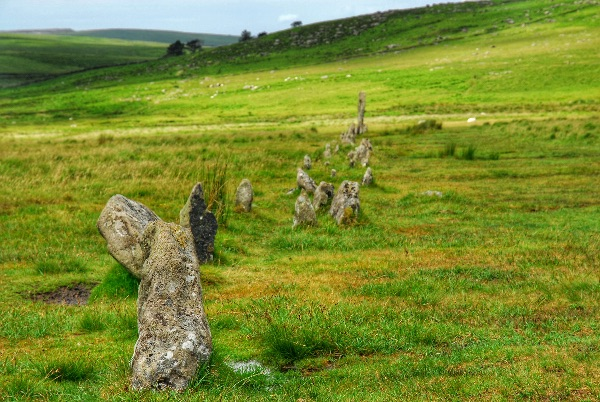 Stone row at Drizzlecombe