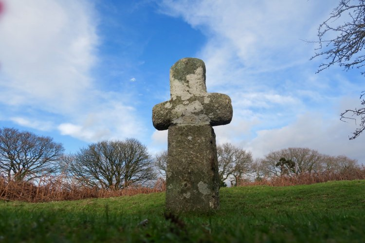 Cross on Whitchurch Down Feb 2016, Dartmoor