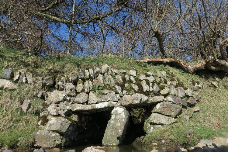 Bridge in wall near Mary Tavy, Dartmoor.
