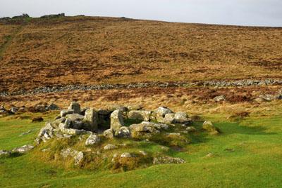 Grimspound Hut Circle Dartmoor