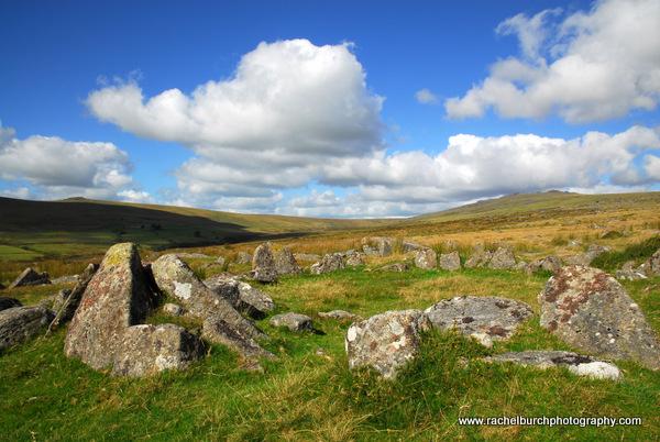 Hut Circle. Merrivale Dartmoor