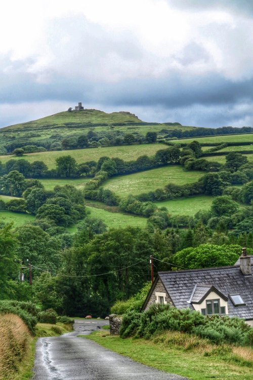 View of Brent Tor church Dartmoor, August 2015