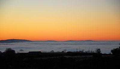 Sea Of Mist Towards Bodmin Moor December 2010