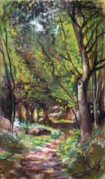 The Way Through the Woods [pastel] Private Collection