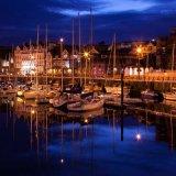 Douglas Harbour at Night