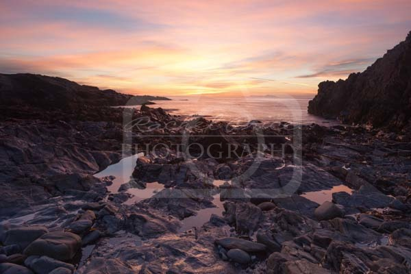 Sunset Over The Mountains of Mourne from Niarbyl