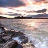 Moody Sunset over Peel Castle