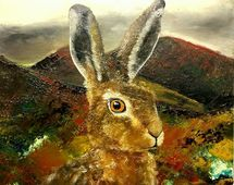 Hare in the highlands (profile rght)