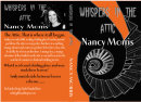 The finished book Jacket for Nancy's Book, 'Whispers in The Attic'