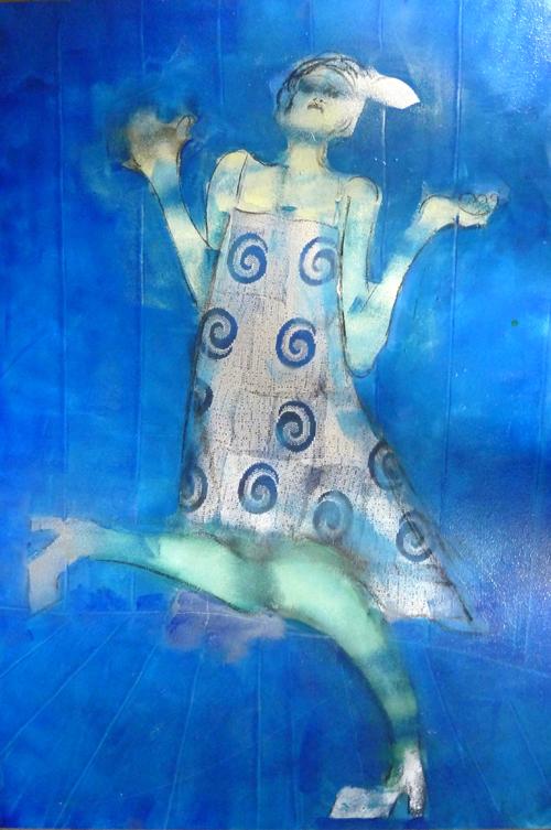 a blue flapper